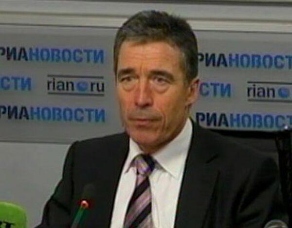 Расмуссен: сотрудничество по ПРО повысит безопасность России и НАТО