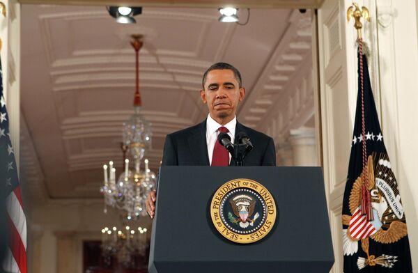 Президент США Барак Обама на пресс-конференции после выборов в конгресс