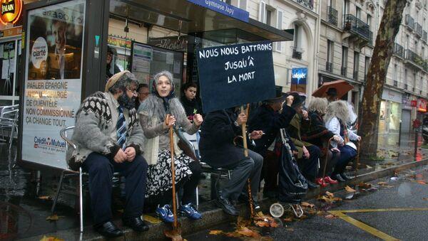 Демонстрация против пенсионной реформы во Франции. Архив