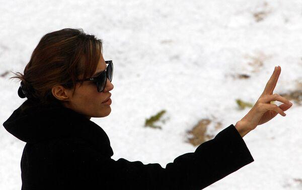 Анджелина Джоли на съемках своего фильма в Будапеште