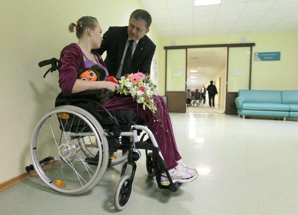 Марат Бариев (на заднем плане) и Ирина Скворцова