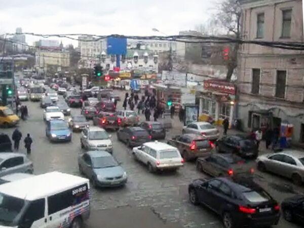 Сложные развязки Москвы: площадь перед Белорусским вокзалом