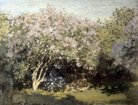 Репродукция картины К.О.Моне Сирень на солнце