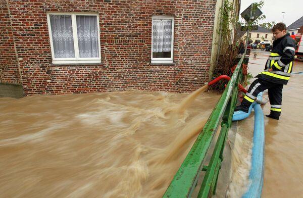 Наводнение после проливных дождей в Бельгии