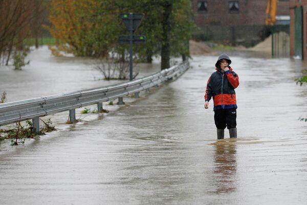 Наводнение из-за проливных дождей в Бельгии