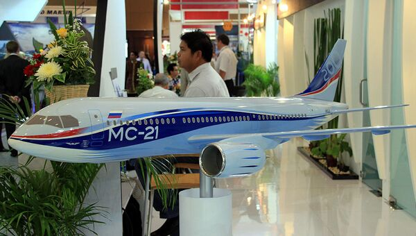 Макет самолета МС-21. Архивное фото