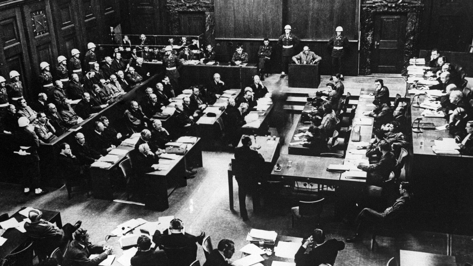 Одно из заседаний Международного военного трибунала во время Нюрнбергского процесса - РИА Новости, 1920, 20.11.2020