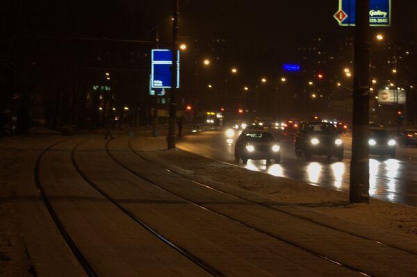 Движение на дорогах Москвы