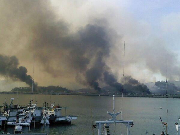 Более 50 строений загорелись на южнокорейском острове после артобстрела, предположительно, со стороны КНДР