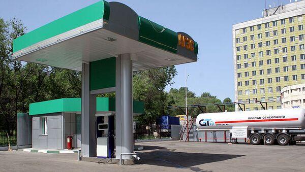 Газовая заправочная станция. Архивное фото