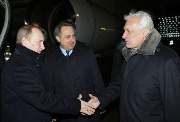 Премьер-министр РФ Владимир Путин прибыл в Цюрих