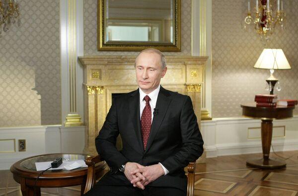 Премьер-министр РФ Владимир Путин дал интервью телекомпании CNN