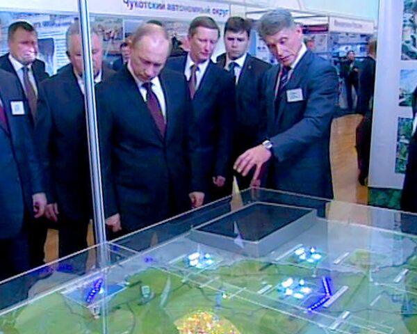 Путину показали модернизированный Дальний Восток в макетах