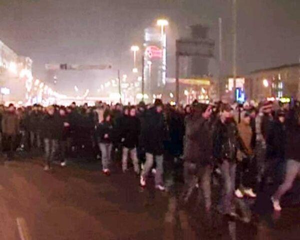 Фанаты Спартака перекрыли Ленинградское шоссе. Видео с места событий