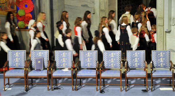 Награждение Нобелевской премией мира 2010 в Осло