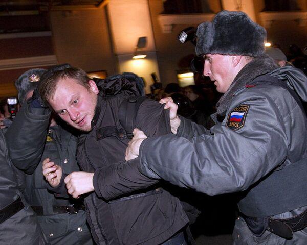 ОМОН не допустил проведения Дня гнева у московской мэрии