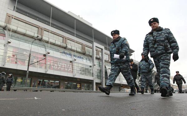 Усилены меры безопасности у Киевского вокзала. Архив