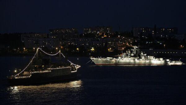 Корабли Черноморского флота РФ на рейде Севастополя
