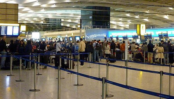 Отмена рейсов в аэропорту Хитроу. Архивное фото