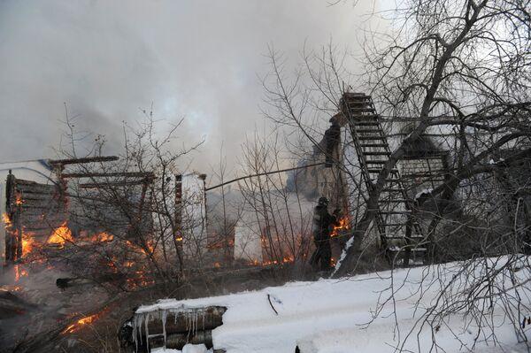 Пожар в сервисном центре Эльдорадо в Чите