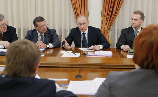 Премьер-министр РФ Владимир Путин встретился с руководителями объединений предпринимателей малого и среднего бизнеса