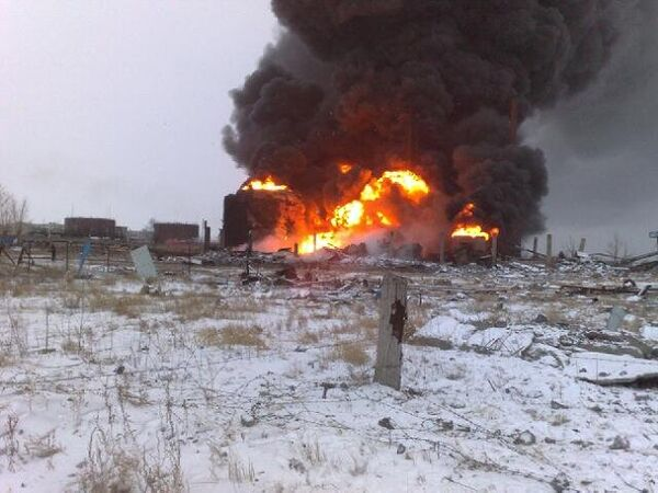 Пожар на НПЗ в Забайкальском крае