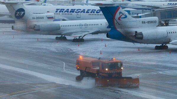 Задержка авиарейсов в аэропорту Домодедово