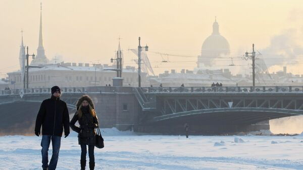 Сильные морозы в Санкт-Петербурге