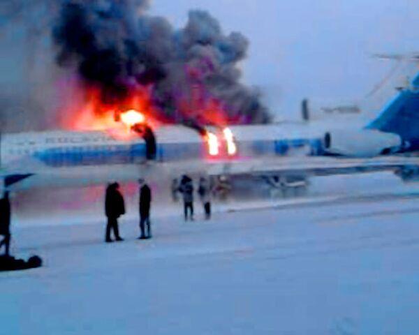 Последние секунды перед взрывом Ту-154. Видео очевидца