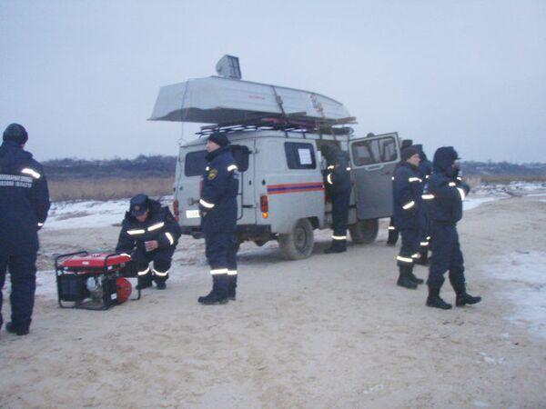 Операция по поиску детей в поселке Комаровка Неклиновского района на берегу Таганрогского залива Азовского моря