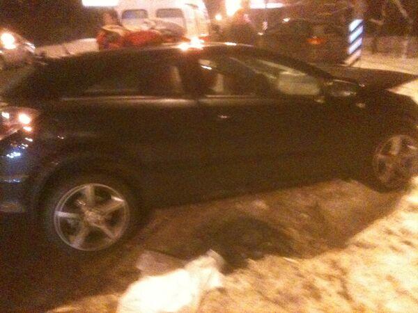 На месте ДТП с участием машины полпреда президента РФ Гарри Минха. BMW
