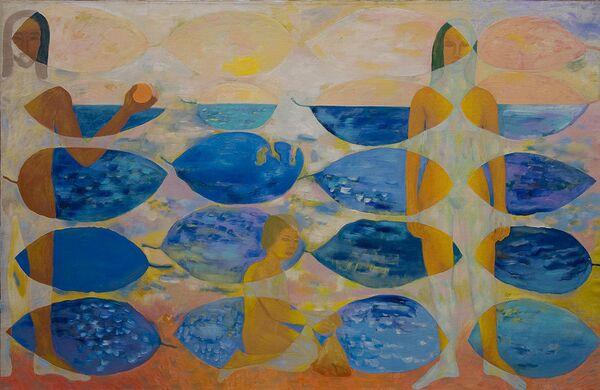 Екатерина Кудрявцева Воспоминания о море, 1996. Выставка Органика в Галерее на Солянке
