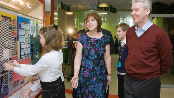Мэр Москвы Сергей Собянин в эколого-просветительском центре Воробьевы горы