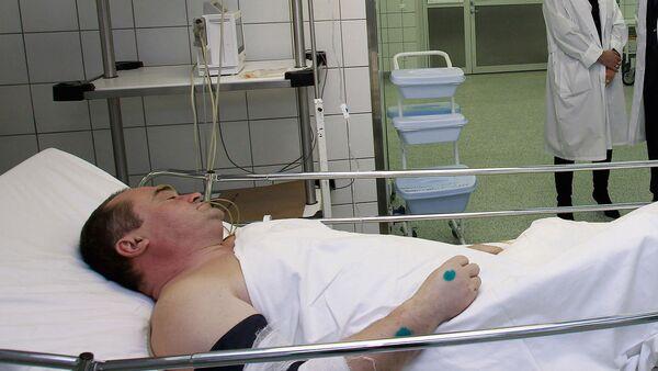 Пострадавший в результате теракта в аэропорту Домодедово в институте Склифосовского