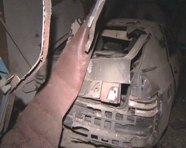 Заминированный автомобиль взорвался в Хасавюрте. Видео с места ЧП