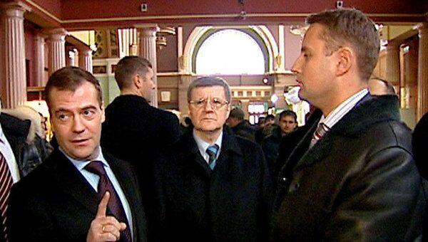 Медведев не нашел милиционеров в зале ожидания Киевского вокзала
