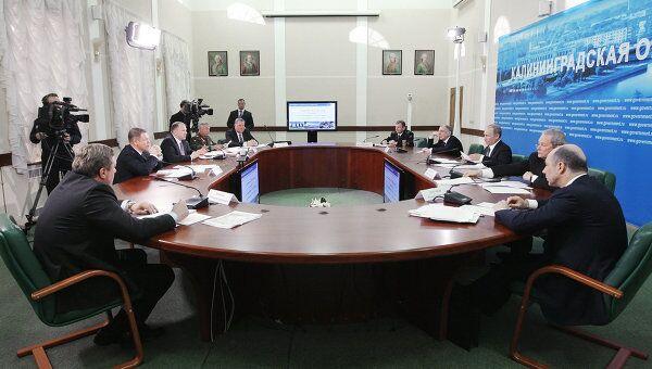 Премьер-министр РФ Владимир Путин провел совещание в Калининграде