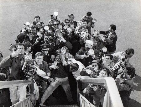 Репортеры встречают кинозвезду, «Сладкая жизнь», 1960 г.