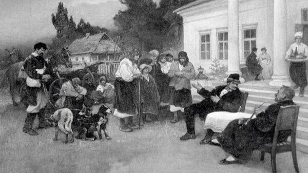 Крепостных крестьян меняют на собак