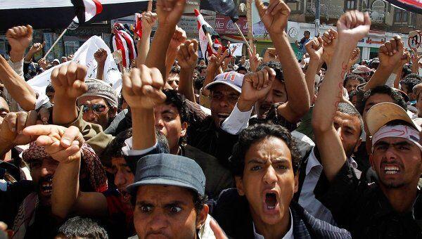 Антиправительственные демонстрации в Йемене