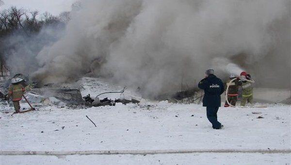 На месте падения Ан-148 в Белгородской области