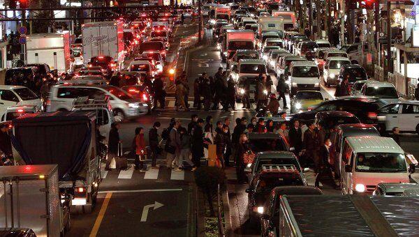 Ситуация в Токио после землетрясения