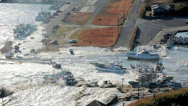 Последствия землетрясения и цунами в японском городе Асахикава