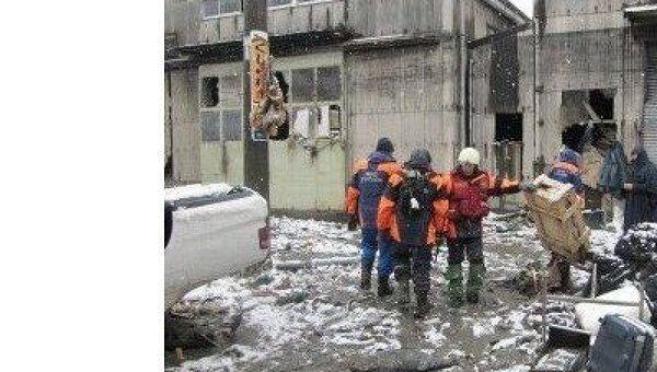 Спасательная операция МЧС России в японском городе Сендай