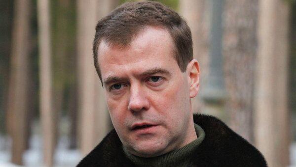 Президент РФ Дмитрий Медведев выступил с заявлением в связи с ситуацией в Ливии