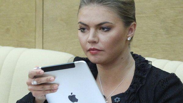 Алина Кабаева на пленарном заседаним Государственной Думы РФ. Архив