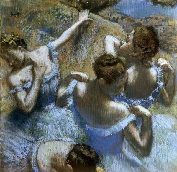 Репродукция картины Эдгара Дега Голубые танцовщицы