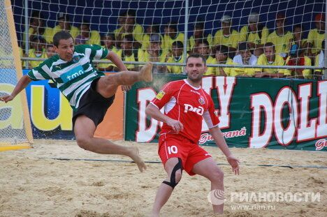 Игровой момент матча Локомотив - Спортинг