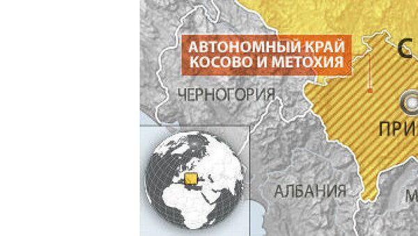 Автономный край Косово и Метохия. Карта