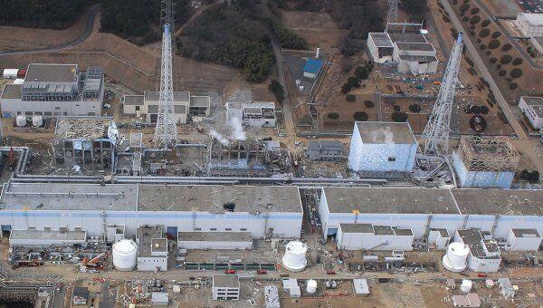 Вид с воздуха на АЭС Фукусима